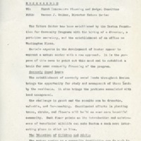 To First Homeowners Planning and Budget Committee,  From Vernon J. Walker , Director, Nature Center, September 25, 1967