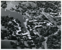 Architectural model of Lake Anne Village, view from the west